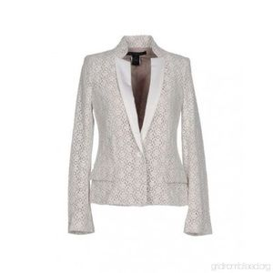 Marc by Marc Jacobs white lace blazer